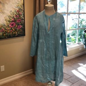 CP Shades baby blue linen tunic